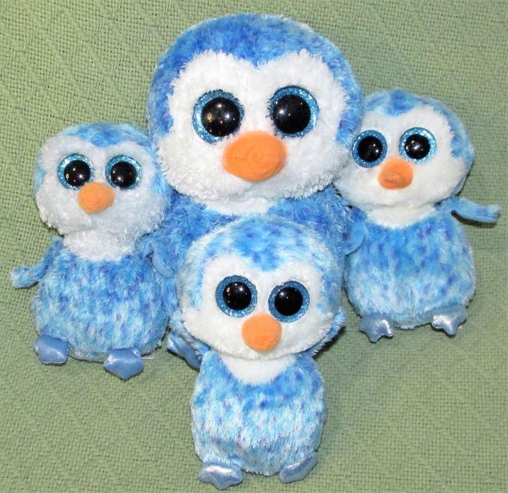 ICE CUBE Beanie Boos LOT Ty Plush Stuffed BLUE OWL 9