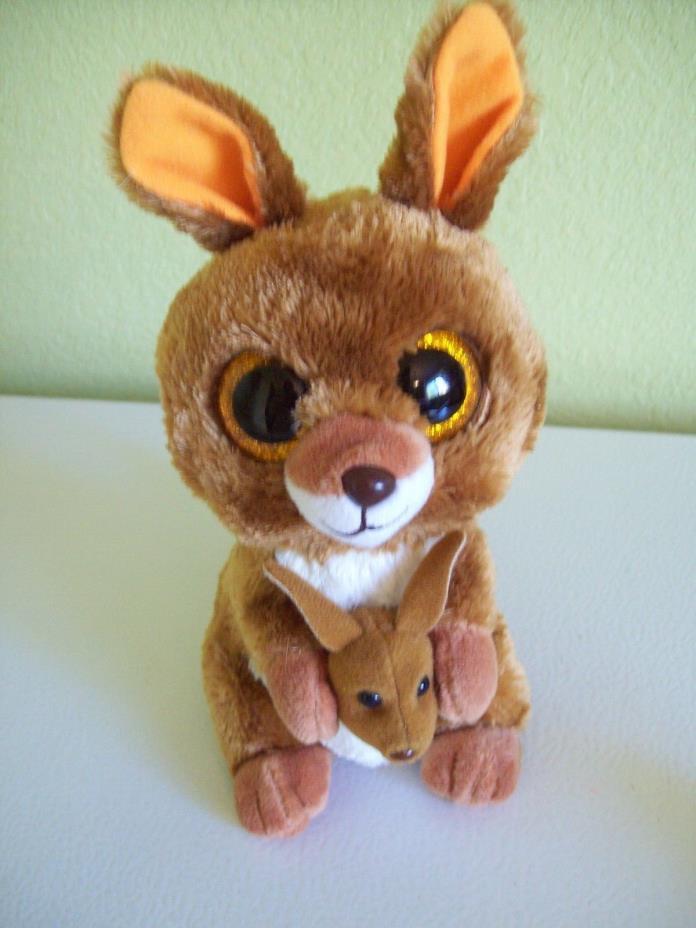Ty Beanie Boos Stuffed Animal Kipper the Kangaroo w/ baby 6