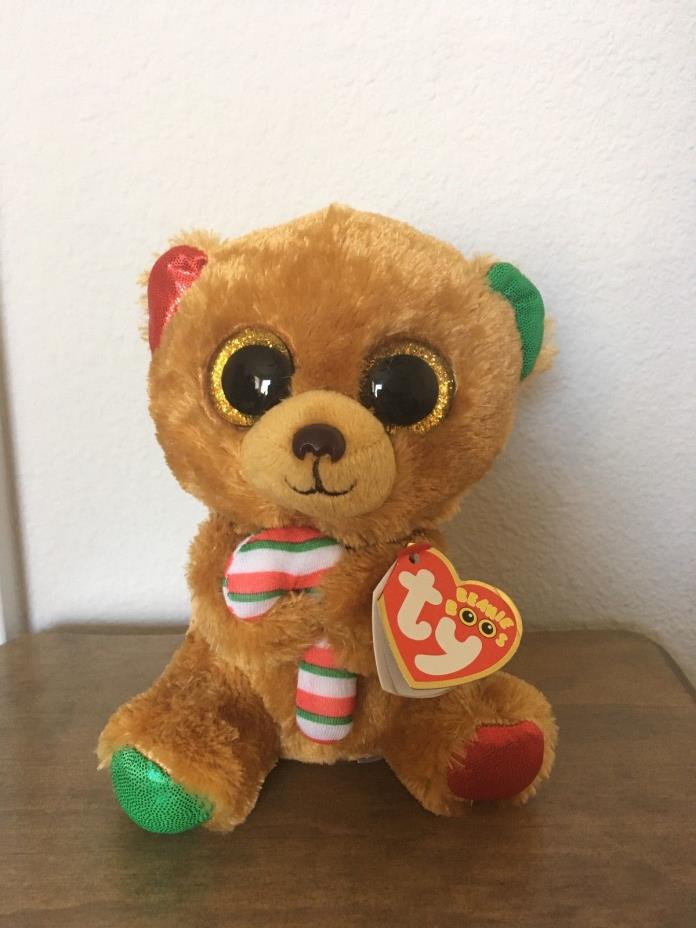 Beanie Babies Boo Ty Bella Christmas Bear 6 inches