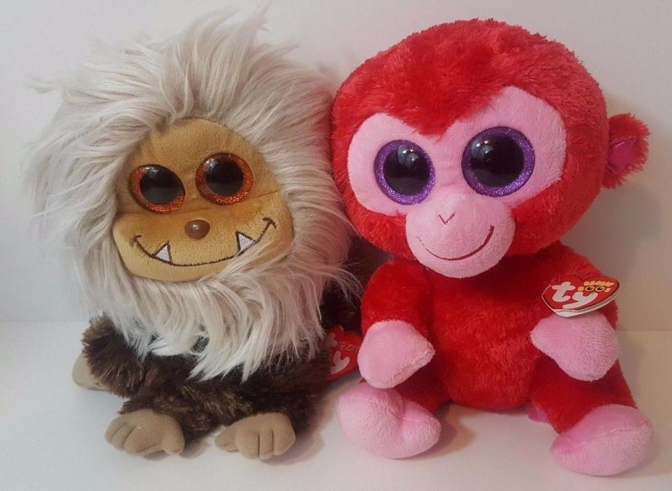 Beanie Boo Plush Lot Charming Monkey Zinger Monster Medium 9