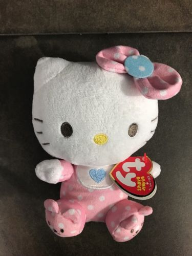 TY Hello Kitty Pink Baby w/ Rattle 6