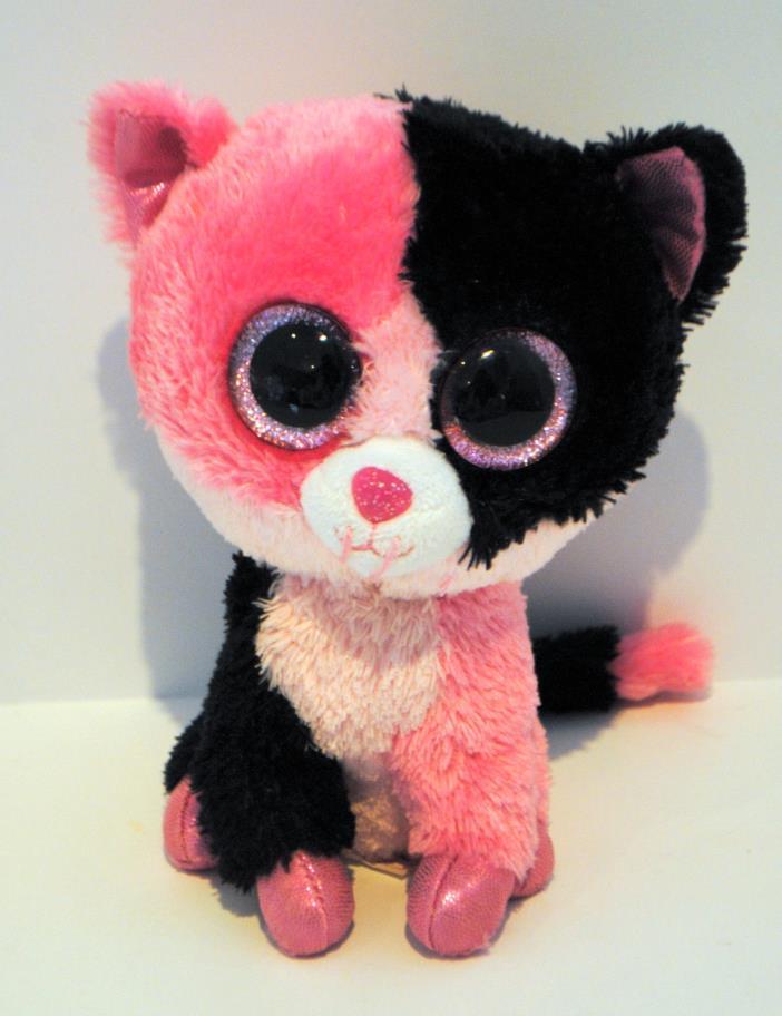 RARE Ty Beanie Boo Boos Plush Dazzle Cat 6