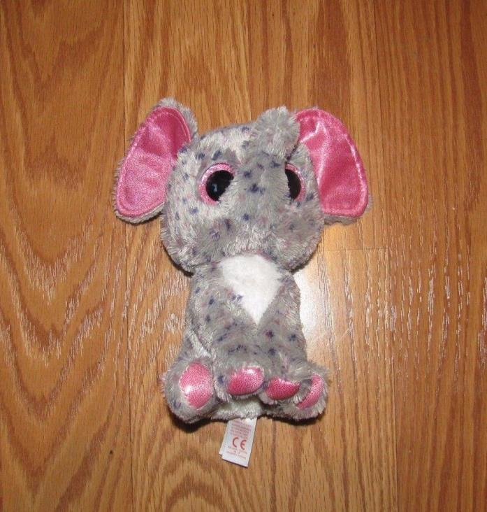 TY Beanies Boos SPECKS ELEPHANT Plush Stuffed Toy pink Glitter Eyes 6