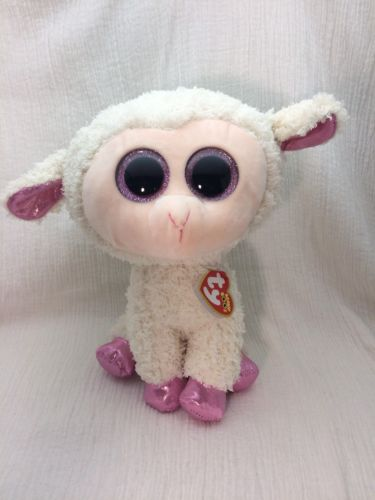 New TY Beanie Boos - TWINKLE the Lamb Glitter Eyes Medium 9 inch Valentines day