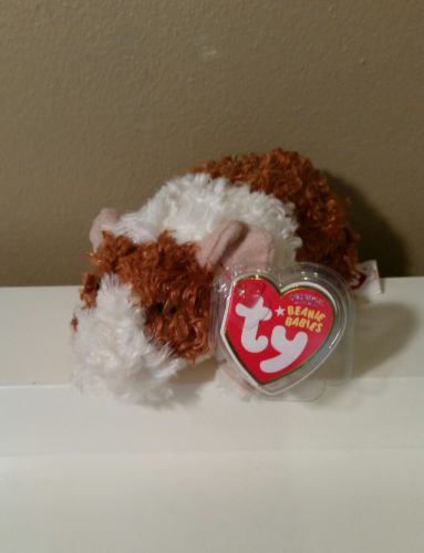 Ty Beanie Babies REESE Brown and White Guinea Pig 6