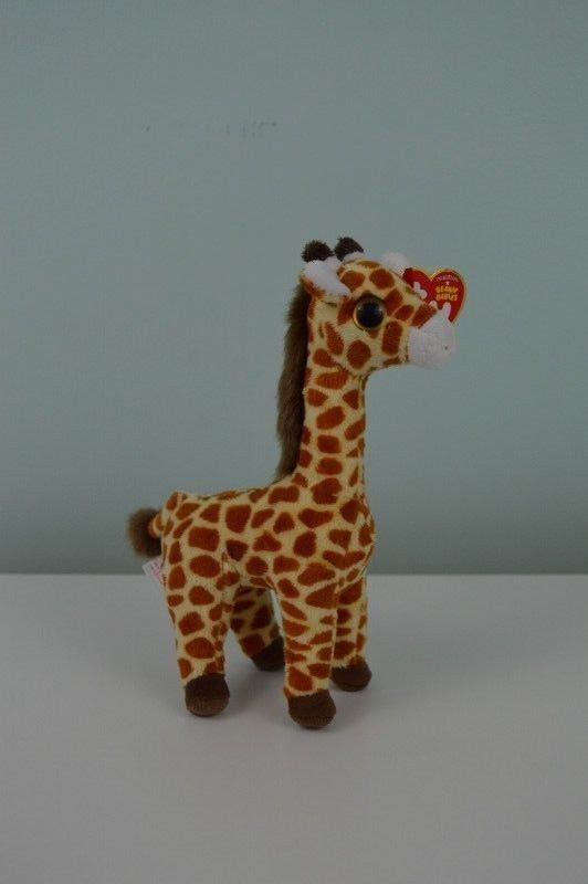 TY Beanie Babies Topper Giraffe Plush Stuffed Animal Toy Big Eyes 8.5