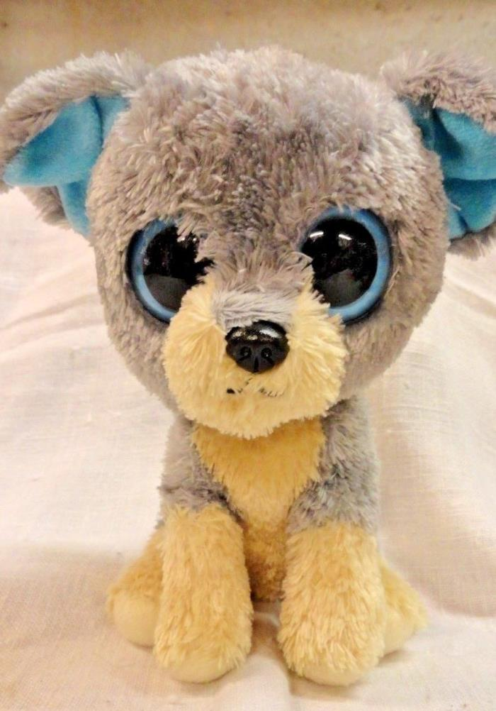 TY Beanie Boos Scraps The Terrier Dog w/ Big Solid Blue Eyes 6