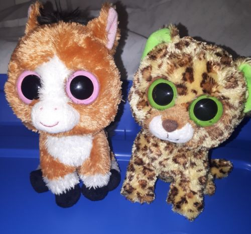 TY Beanie Boos Dakota Horse & Speckles Cheetah Tush tags only