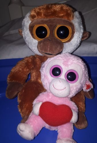 TY Beanie Boo Monkey Set - Medium Bongo & 6