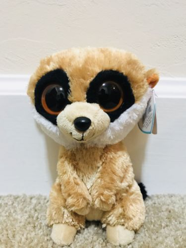 ty beanie boos 6 inch rebel the meerkat solid eyes with mint tag