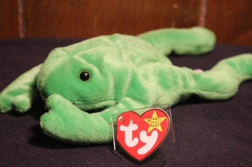 Green Ty Beanie Baby LEGS the Frog Toy RETIRED #4020 1993