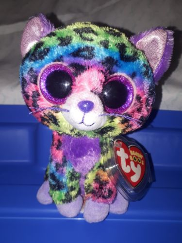 TY Beanie Boo Trixie Justice Exclusive cat with tags Non Mint