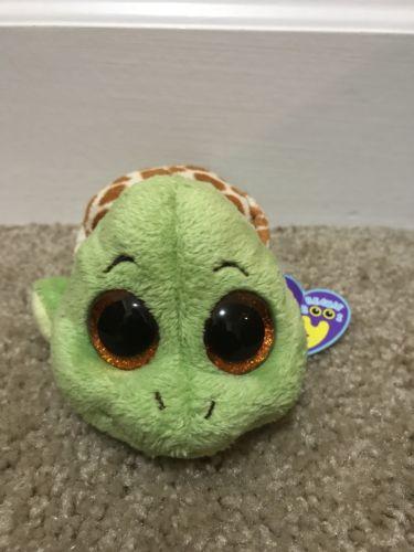 RARE Ty Beanie Boo Boos Baby Plush Sandy Turtle 6