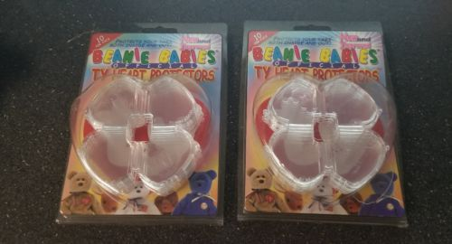 2 packs of 10 TY Beanie Babies Heart Tag Protectors Pack OFFICIAL
