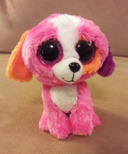 TY Beanie Boos PRECIOUS PUPPY DOG  Plush Toy glitter  Eyes 6