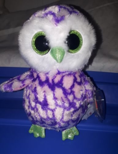 TY Beanie Boo Claire's Exclusive Owl Pipper Tags attached