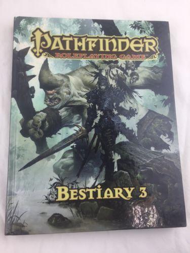 2011 PATHFINDER BESTIARY 3 HARDCOVER BOOK 1ST PRINT NM