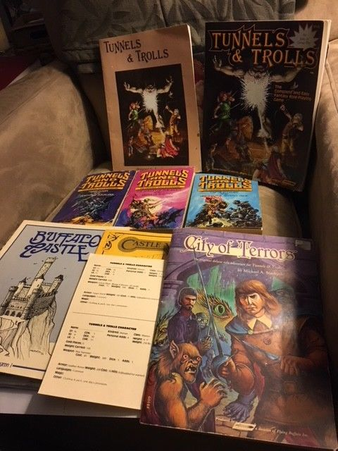 Tunnels and Trolls Game Books Lot