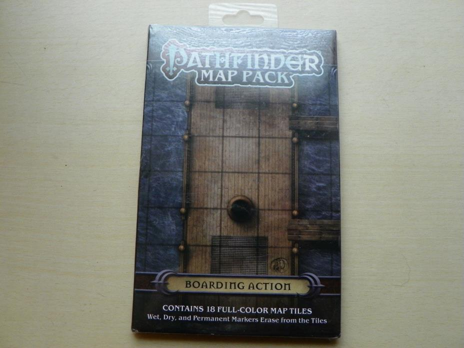 LOT OF 12:  Pathfinder Map Pack: Boarding Action PZO 4053 *12 MAPS SEALED/NEW
