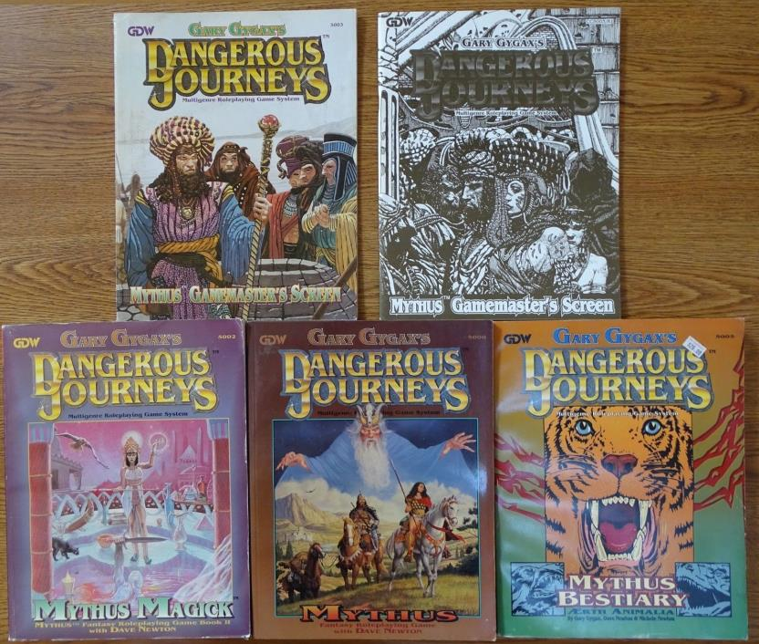 Gary Gygax's Dangerous Journeys role playing game books