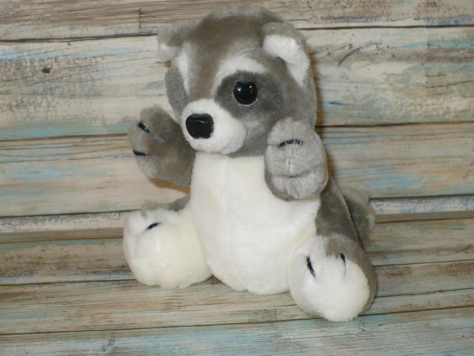 Vintage Dakin Small RACCOON Plush Stuffed Animal 7