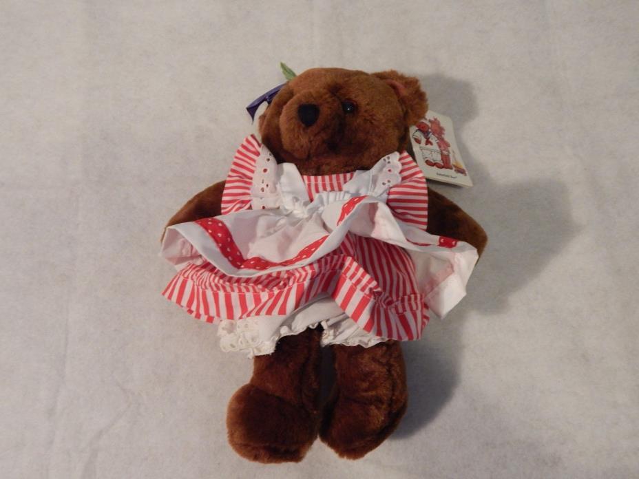 Vintage Dakin Butterfield Bear Bonnie Beth Bear Stuffed Animal Plush1984With Tag