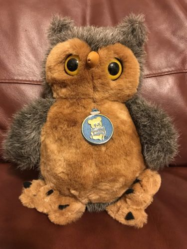 Dakin 1986 Wise Owl Jr #31-2160 9inch Tall, About 8 Inch Across 2 Tags On