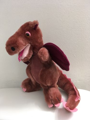 1983 Vintage Dakin Purple Dragon Plush Soft Stuffed Animal 12