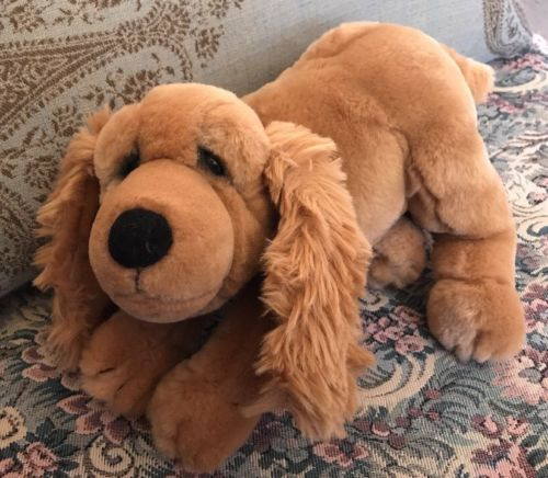 Lou Rankin Applause Dakin plush Cocker Spaniel Tan Brown puppy dog #GG1