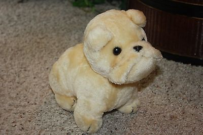 VTG Plush DAKIN 1978 BULLDOG Puppy Dog Light Tan 9