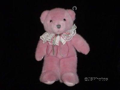 Dakin Teddy Bear Pink Plush 13 inch 1990