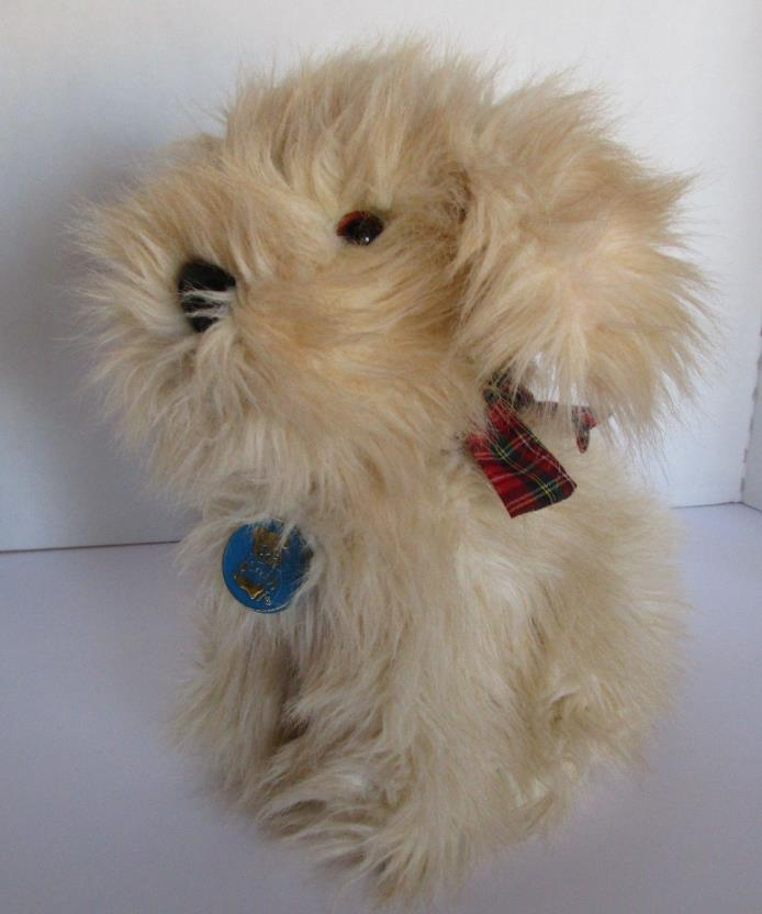 Plush Vintage Dakin Terrier Scottish Dog Plaid Bow Tan 12