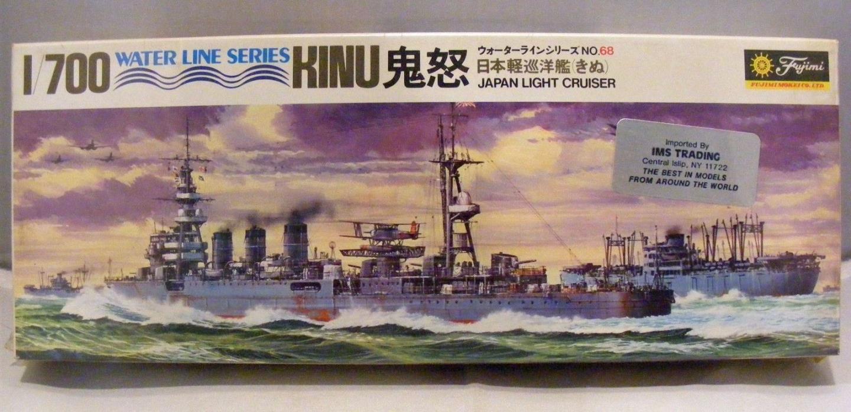Vintage FUJIMI KINU Japan Light Cruiser Model Kit 1/700 Kit No 68 New Old Stock