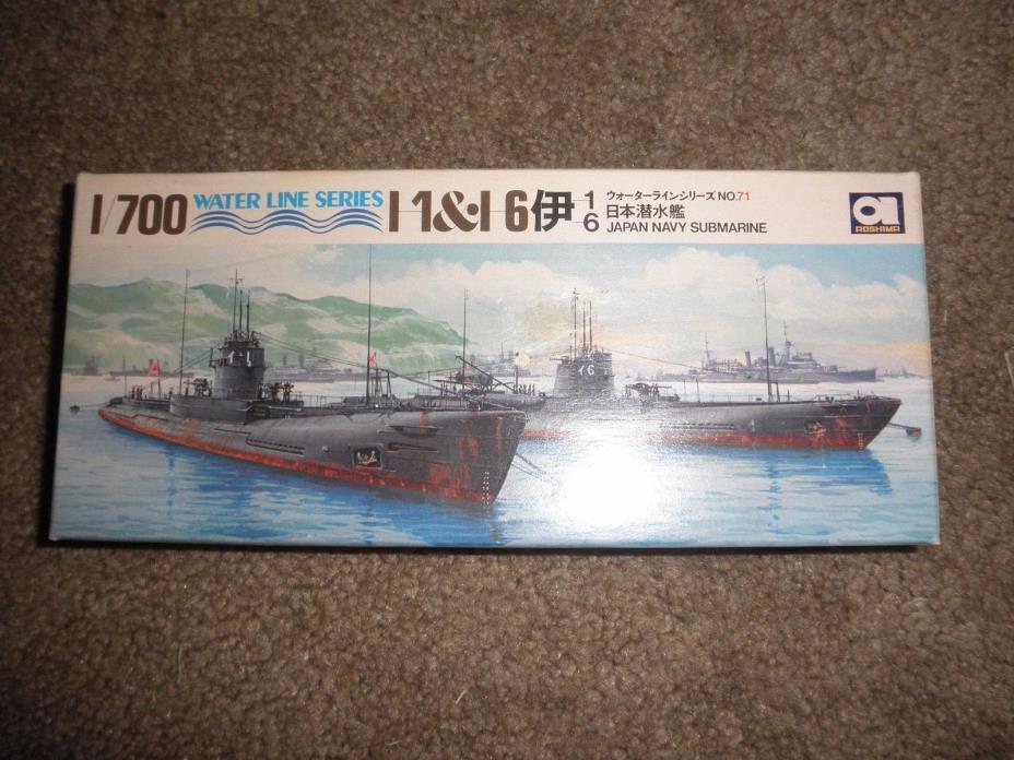 Aoshima Water Line Series 1:700 I 1 &I 6 Japan Navy Submarine #WLS071  unused
