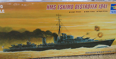 1/700 HMS Eskimo Destroyer 1941 - Trumpeter #05757
