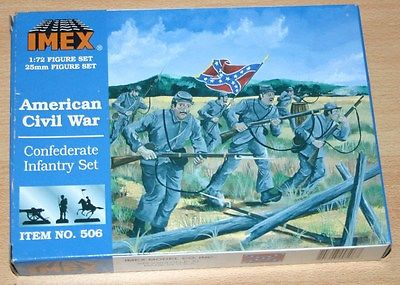 8-506D IMEX 1/72nd (25mm) SCALE CONFEDERATE INFANTRY SET PLASTIC MODEL KIT