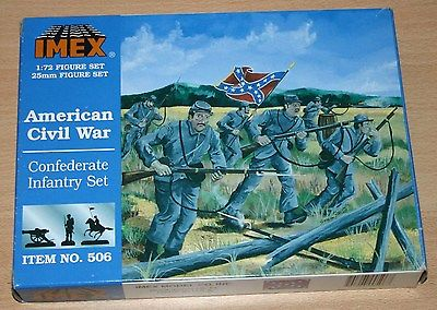 8-506B IMEX 1/72nd (25mm) SCALE CONFEDERATE INFANTRY SET PLASTIC MODEL KIT