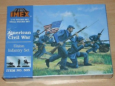 8-505D IMEX 1/72nd (25mm) SCALE UNION INFANTRY SET PLASTIC MODEL KIT