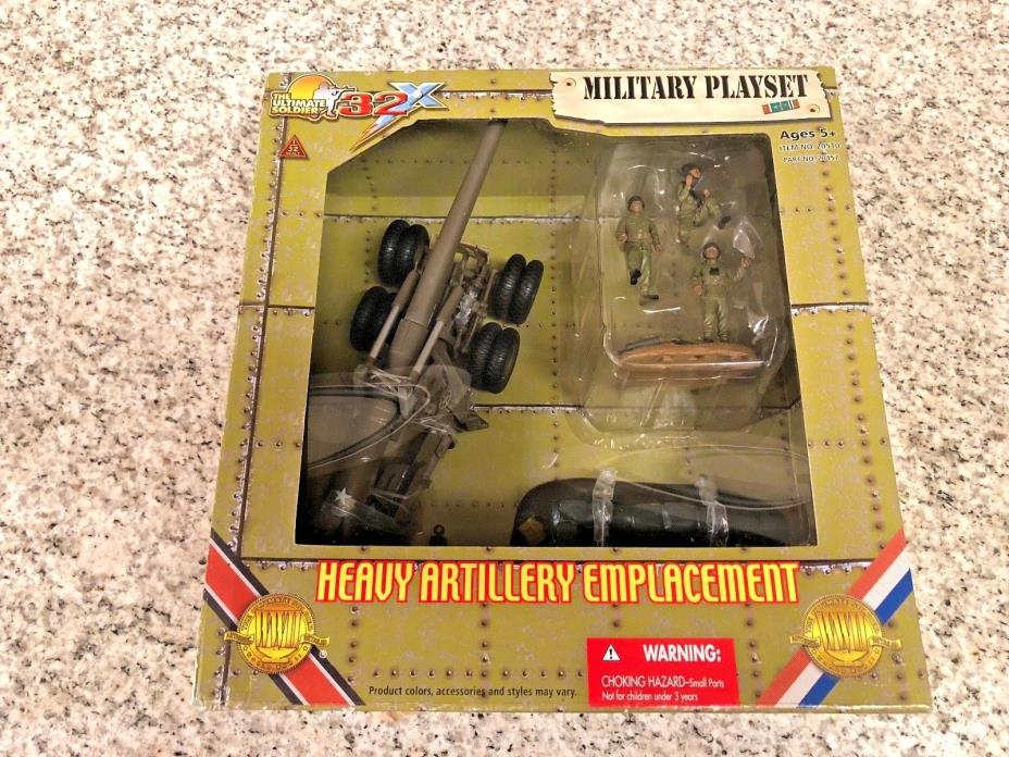 21st Century The Ultimate Soldier - Heavy Artillery Emplacement + Crew NEW