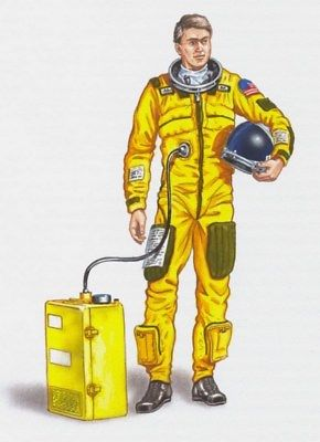 Plus Model 1:48 Pilot U-2 Set Resin Figure Kit #AL4002
