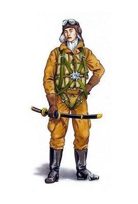 Plus Model 1:48 WWII Japanese A6M Zero Fighter Pilot Resin Figure Kit #AL4057