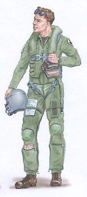 Plus Model 1:48 Pilot F-16 Resin Figure Kit #AL4011
