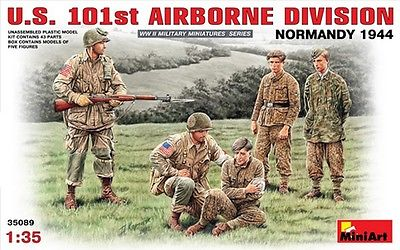 Plastic figure 1/35 U.S. 101st AIRBORNE DIVISION (NORMANDY 1944) MINIART 35089