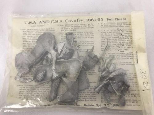 54 MM 1/32 Mounted USA and C.S.A Calvary, 1861-65 ~ Civil War ~ Imrie/ Risley