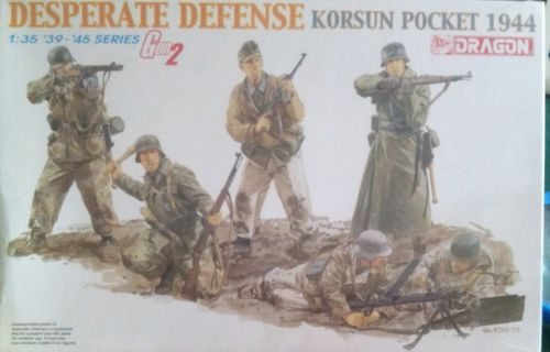 1:35 scale desperate defense korsun pocket 1944 plastic model kit by dragon