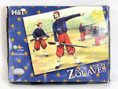 Hat Industries 1/32 Scale Model Soldiers ACW Union Zouaves 9001 NEW Sealed