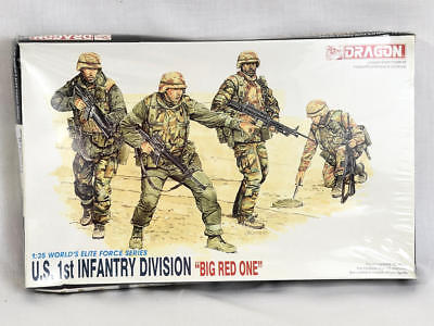 Dragon US Army 1st Infantry Division Big Red One 1/35 Scale Model Soldiers 3015