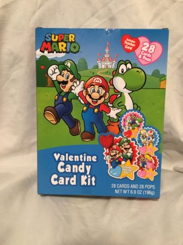 Super Mario Valentine's Candy Card Exchange Kit, 28 count