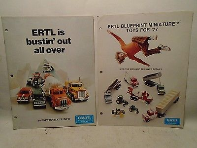 2 ERTL 1977 PLASTIC MODEL AND DIECAST TOY CATALOGS
