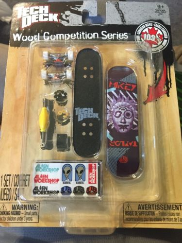 Tech Deck Wood Competition Series Mikey Taylor Alien Workshop Sealed Fingerboard